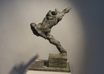 """""""Apsara - Tänzerin des Lichts"""", Alu oder Bronze patiniert, H/B/T,  ca. 38/9/36, 2014"""
