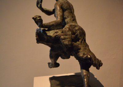 """""""Der geschlossenen Augen Sinn"""", Bronze patiniert, H/B/T,  ca. 32/22/12, 2014"""
