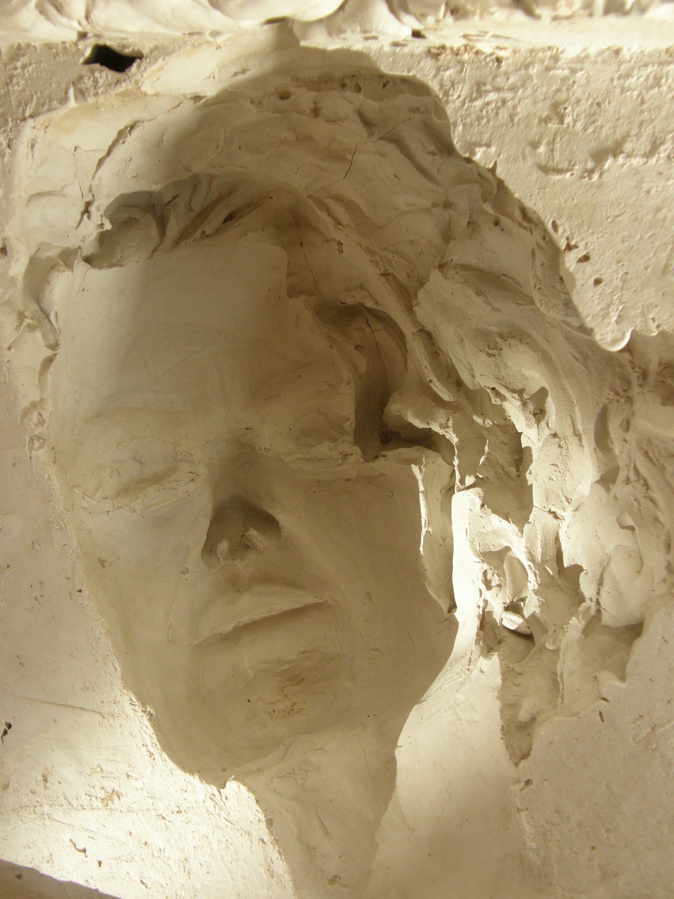Gipsnegativ Portrait, es entstehen 9 Portraits während der IKSIT