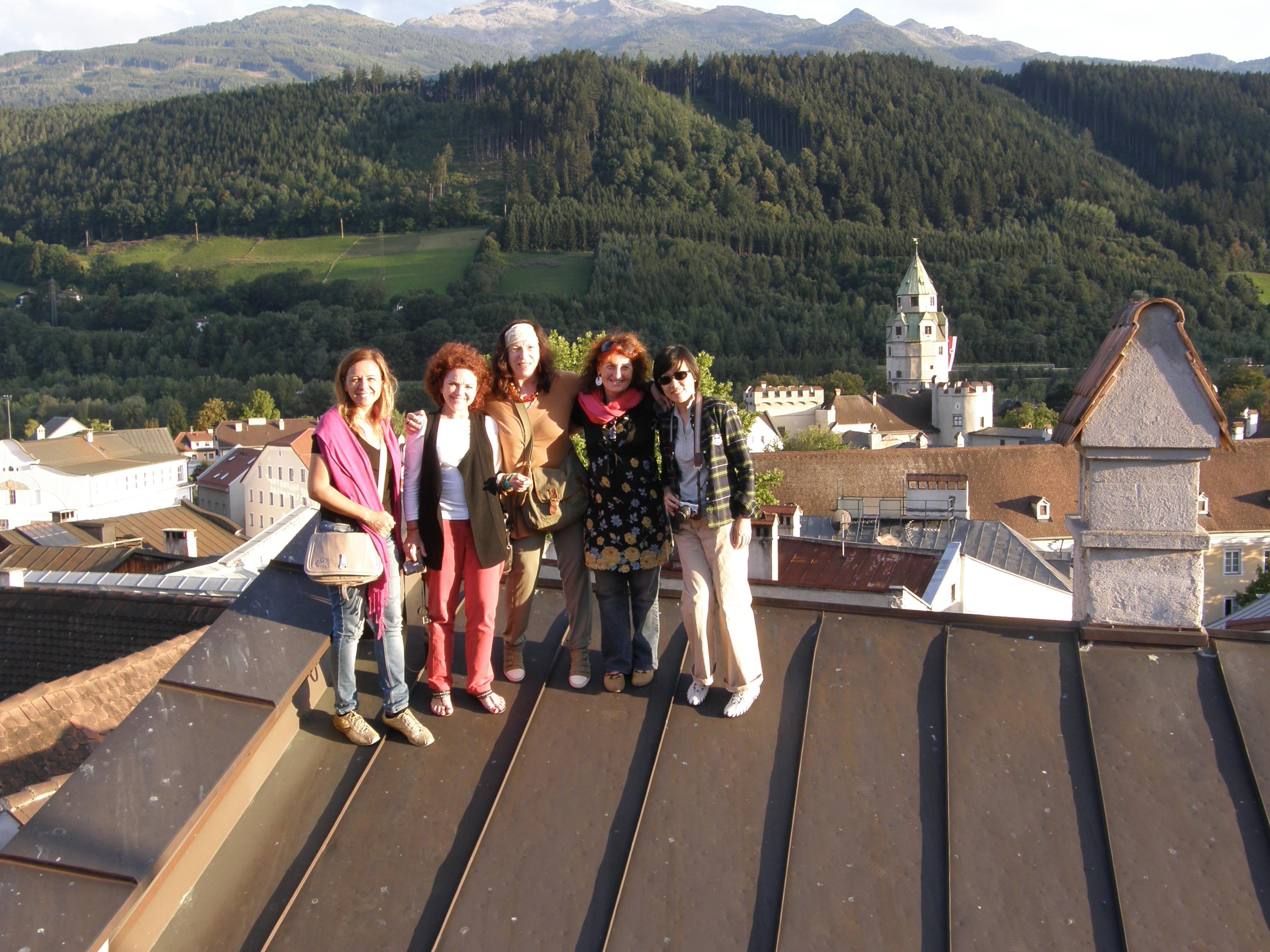 Gruppenbild am Dach