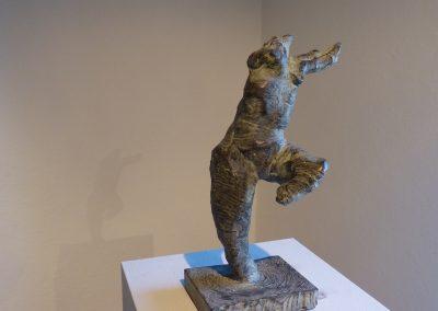 """""""aus dem Wasser steigende Nymphe"""" Ton  pat. für Bronze , H/B/T  35/17/15 cm"""
